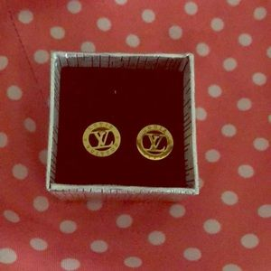 LV Gold Plated Earings